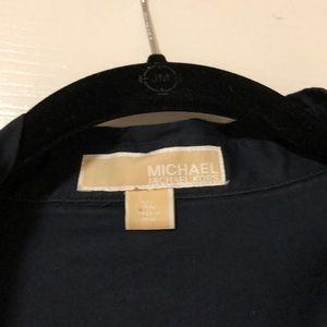Michael Kors Dresses - Michael Kors Navy blue shirt dress w/belt